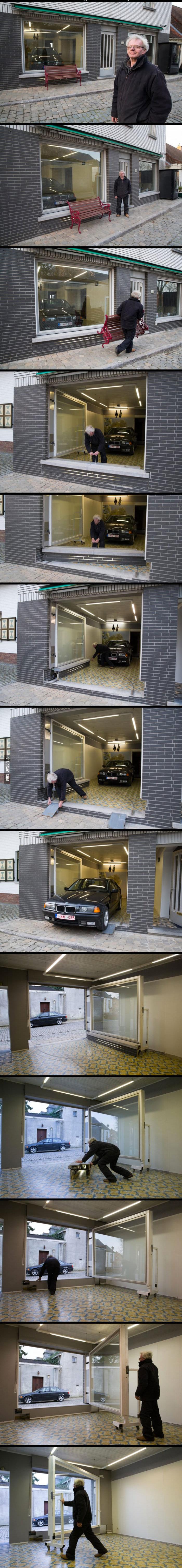 Sa ville lui interdit d installer une porte de garage ce qu il fait la place est g nial - Qu est ce qu une porte postformee ...